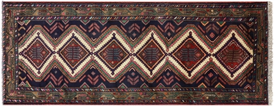 Runner New Persian Hamadan Hand Knotted Rug