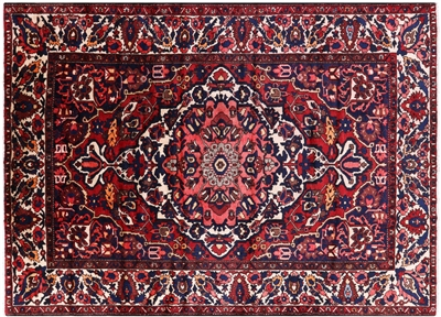 Hand Knotted Wool Persian Isfahan Area Rug