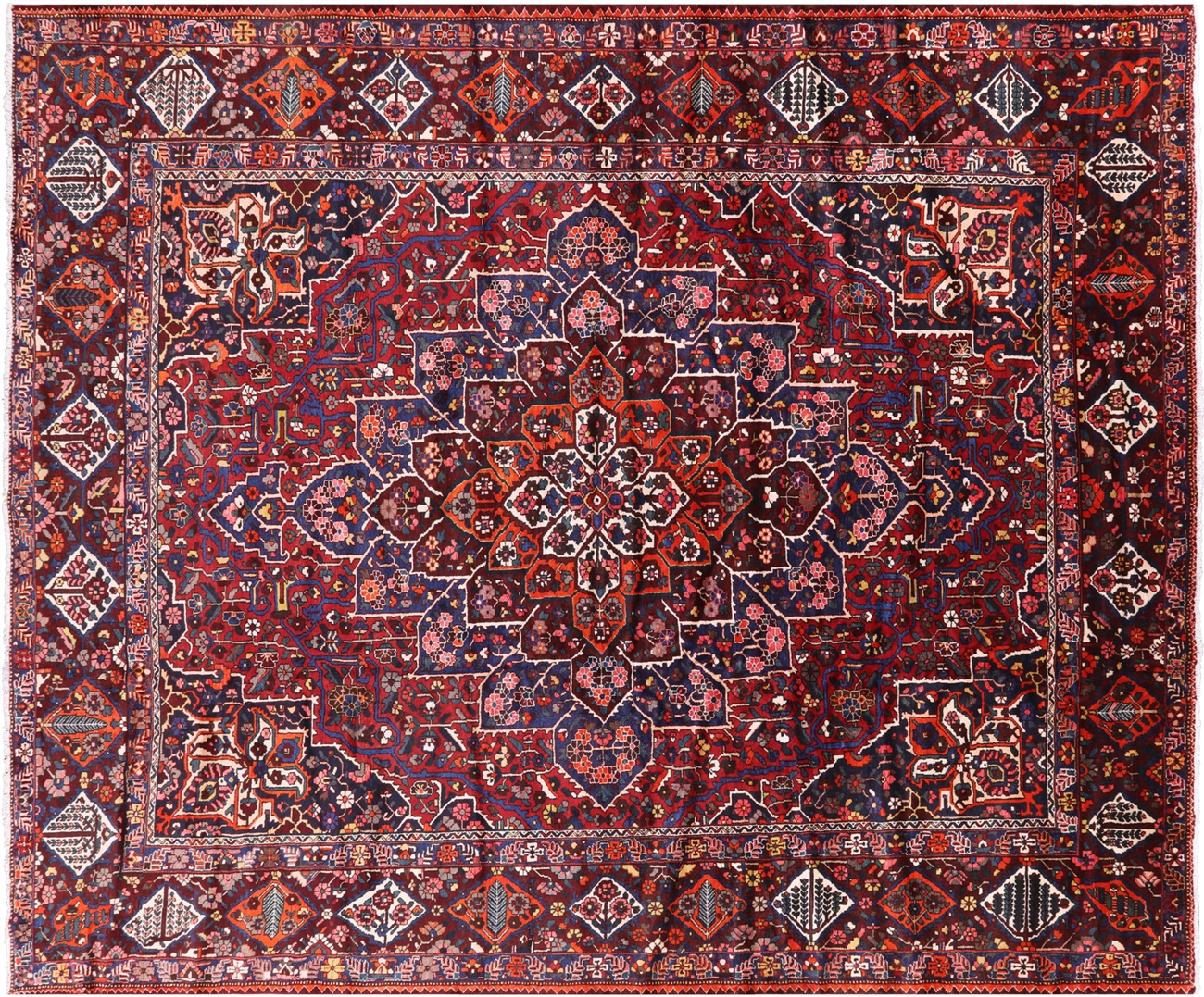 Persian Isfahan Hand Knotted Wool Rug 12 X 15