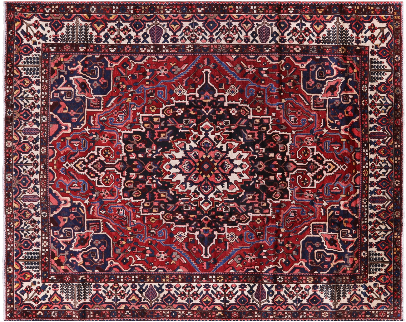 10 X 13 Persian Hand Knotted Wool Isfahan Area Rug
