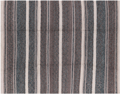 Oriental Striped Moroccan Hand Knotted Wool Rug