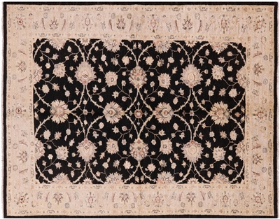 Oriental Hand Knotted Peshawar Wool Rug