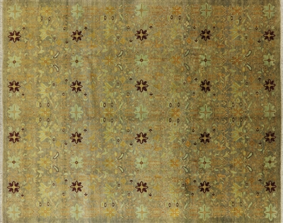 All Over Peshawar Hand Knotted Oriental Rug