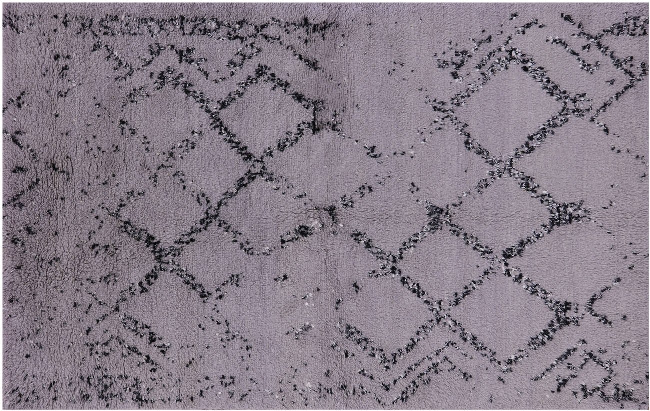 5 X8 Moroccan Berber Hand Knotted Gray Oriental Wool Area