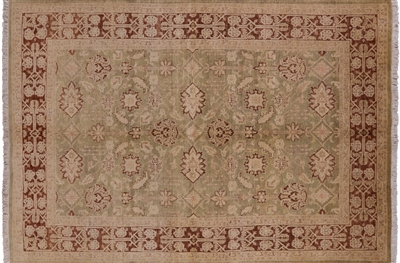 Hand Knotted Peshawar Oriental Area Rug