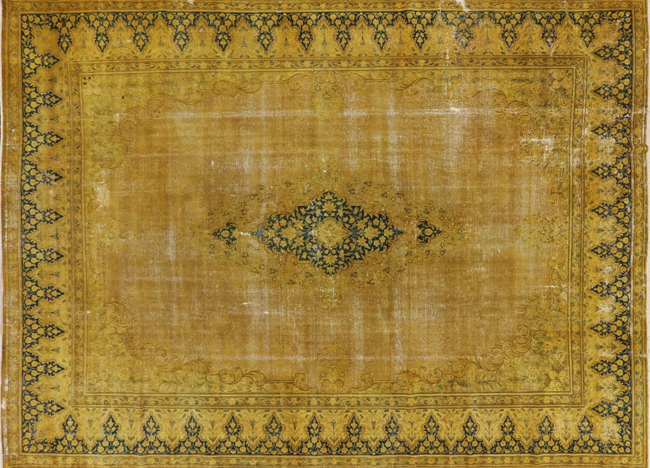 Tabriz Design Oriental Overdyed Area Rug 11 X 16 W2079