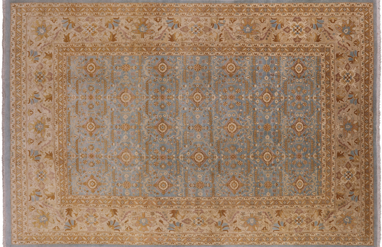 Blue Peshawar Hand Knotted Area Rug 10