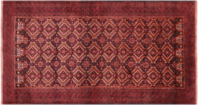 Traditional Persian Oriental Balouch Wool On Wool Area Rug
