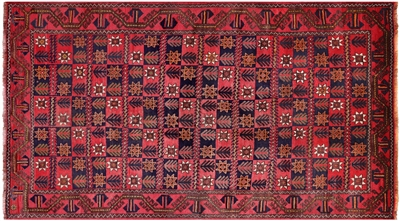 Persian Handmade Oriental Balouch Wool On Wool Area Rug
