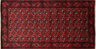 Wool on Wool Persian Handmade Bokhara Rug