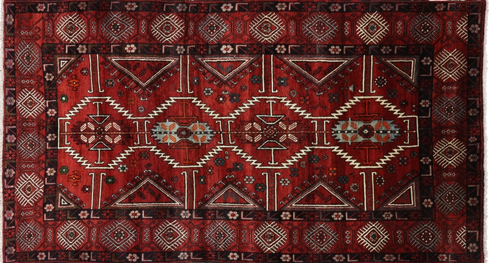 Wool on Wool Tribal Runner Persian Rug