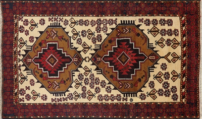 Traditional Persian Balouch Wool Area Rug