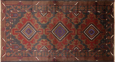 Persian Balouch Wool On Wool Area Rug