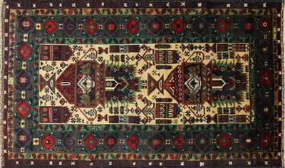 Wool on Wool Handmade Persian Area Rug