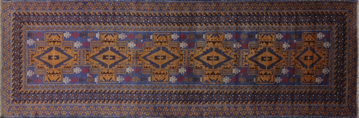Handmade Wool on Wool Runner Persian Rug