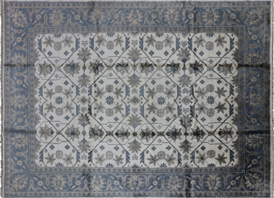 Oriental Hand Knotted Pure Silk Area Rug