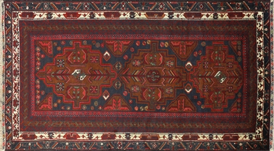 Wool on Wool Persian Handmade Oriental Area Rug