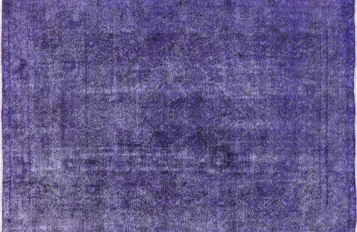 Purple Oriental Overdyed Area Rug