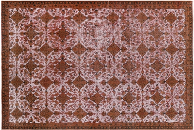 All Over Design Overdyed Hand Knotted Rug