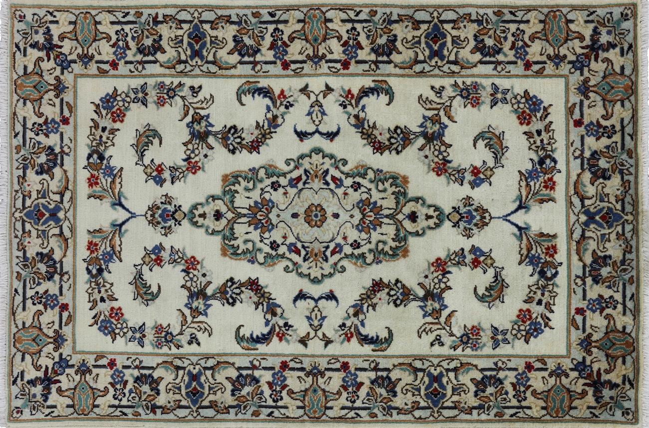 Handmade Persian Kashan Oriental Rug 3 X 5 W2681