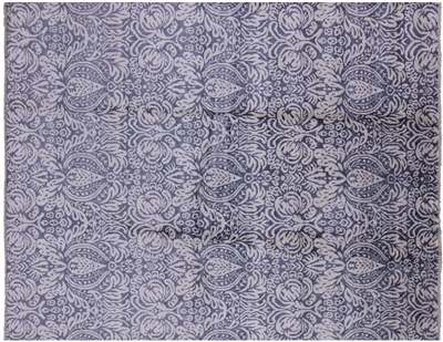 Modern 100% Silk Hand Knotted Rug
