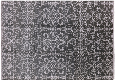 New Wool & Silk Oriental Hand Knotted Area Rug