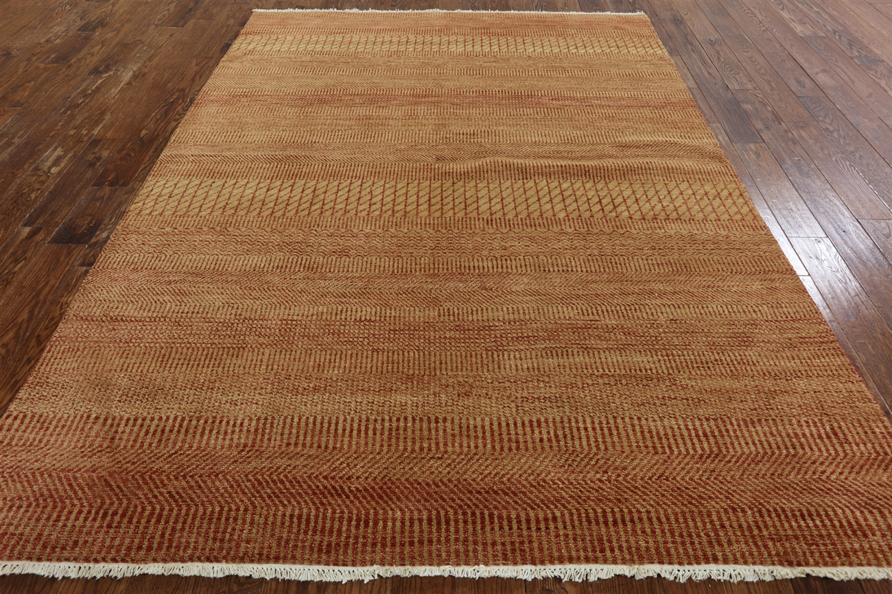 Savannah Gr Collection Oriental 7x9 Modern Gabbeh Hand Knotted Wool Rug W377