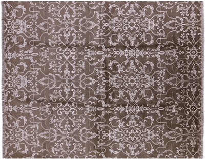 Oriental Wool & Silk Hand Knotted Area Rug