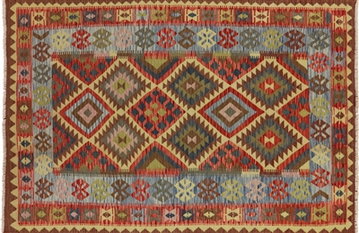 New Flat Weave Wool 6'x8' Tribal Kilim Reversible Hand Knotted Oriental Rug W462