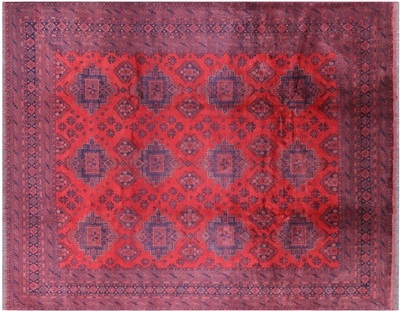 Wool On Wool Oriental Hand Knotted Beljik