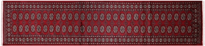 Hand Knotted Tribal  Bokhara Runner Rug