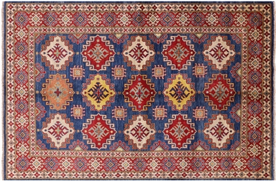 Hand Knotted Wool Kazak Rug