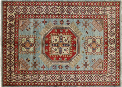 Super Kazak Hand Knotted Wool Area Rug