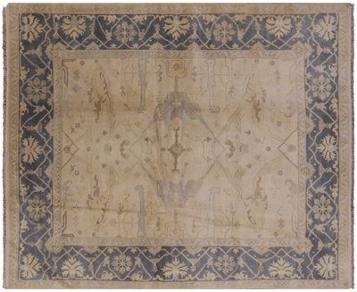 Oriental Hand Knotted Oushak Wool Area Rug
