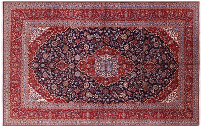 Persian Kashan Hand Knotted Oriental Rug
