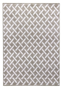 Ambience Criss-Cross Rug - Beige/Cream