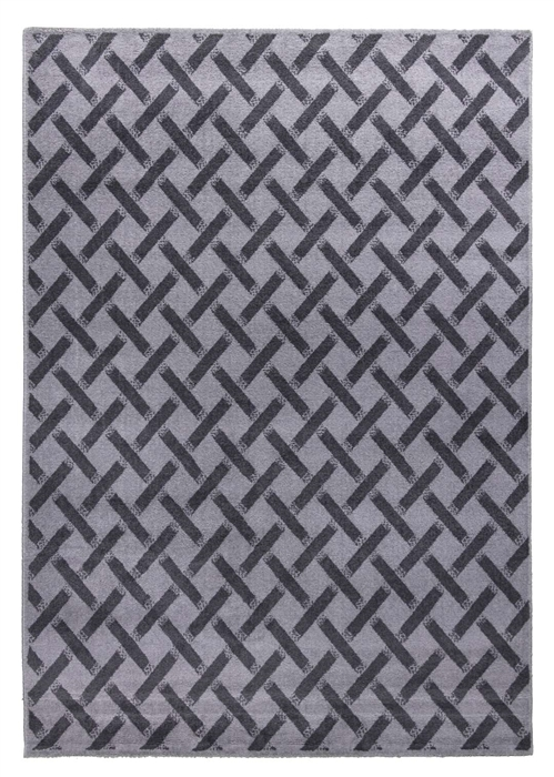 Ambience Criss-Cross Rug - Grey/Dark Grey