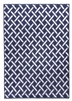 Ambience Criss-Cross Rug - Navy/Cream