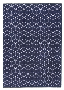 Ambience Cube Rug - Navy/Cream