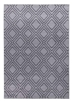 Ambience Double Diamond Rug - Grey/Dark Grey