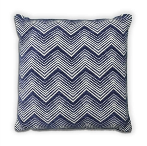 Chevron Cushion - Navy