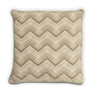 Chevron Cushion - Taupe