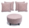Flair - Footstool & 4 Cushion Set - Ochre