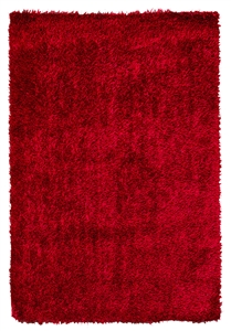 fussion shaggy red clearance rug