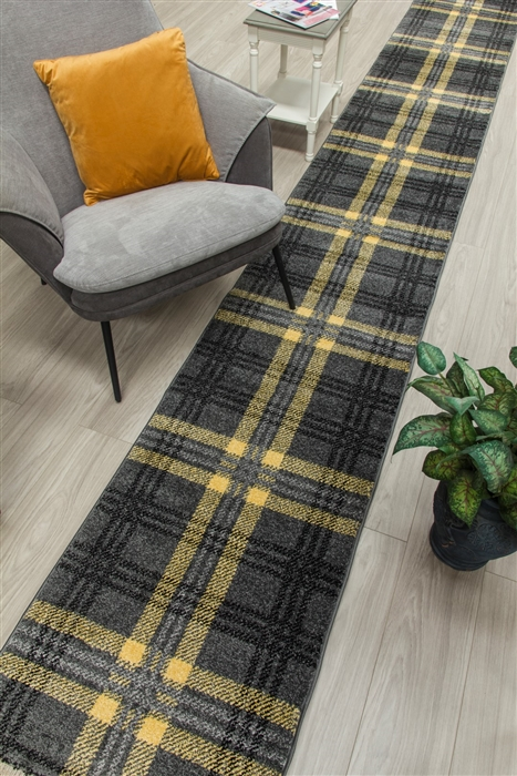 glendale hall stair runner grey yellow