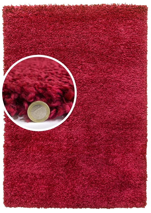 dreams red shaggy rug
