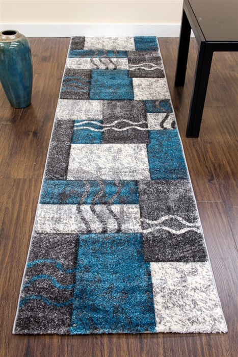 Primo-Runner-Rug-Grey-Teal-E335A