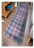 Glendale Tartan Runner Rug Gray Purple