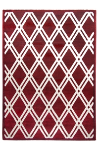 toscana trellis medium red rug