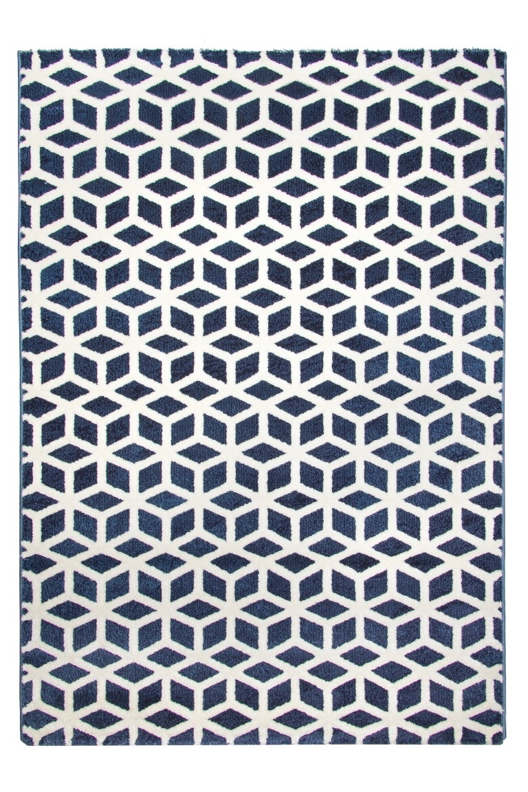 geometric rug pattern geometric print alternative views toscana cube rug blue